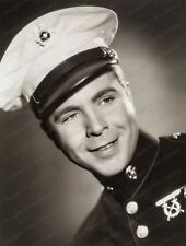 8x10 Print Dick Powell Smiling Marine by Scotty Welbourne Warner Bros 1937 #DPW