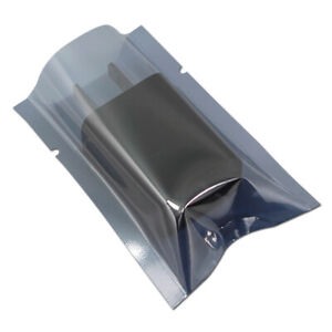 Open Top Anti-Static ESD Shielding Plastic Bag Vacuum Seal Electronic Pack Pouch
