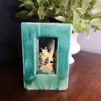 "A Very Nice Vtg Green McCoy ""Arcature"" Style Vase/Planter Bird Double-sided"