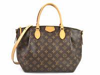 Auth Louis Vuitton Monogram Turenne PM Handbag Shoulder Bag Brown M48813 98417a