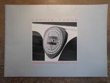 LANCIA RANGE orig 1986 UK Mkt Prestige Sales Brochure - Thema Prisma Delta Y10