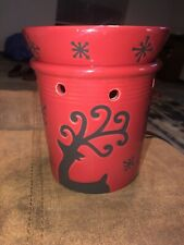Scentsy Reindeer Prancer Red Christmas Full Sized Warmer