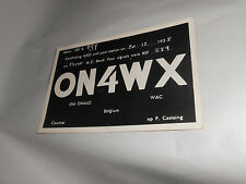 Vintage 1938 QSL Amateur Radio Card ON4WX Courtrai Belgium Kortrijk