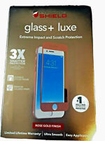 Zagg Invisible Shield Glass Luxe Screen Protector iPhone 6, 6s, 7, 8 Rose Gold