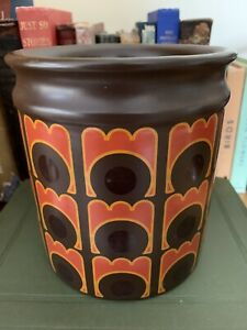 Vintage Arthur Wood Pottery Storage Jar Kitchen Utensils Pens 1970's