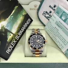 Rolex 16613 Submariner 18kt Two Tone Stainless Watch Box Papers 1995 T Series