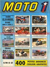 MOTO 1  83 HONDA ST 1100 Pan European 125 CRM BMW K100 RS1 DRESDA Triton ARANCIO