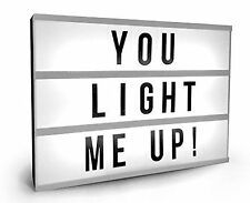 Cinematic Cinema Light up Letterbox Sign A4 Lightbox Message Board Wedding Party