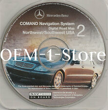 2001 MERCEDES S430 S500 S600 S55 AMG C240 NAVIGATION MAP CD NW SW AZ CO OR UT WA
