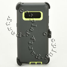 Samsung Galaxy Note 8 Hard Case Cover w/Clip Fits Otterbox Defender Gray Lime