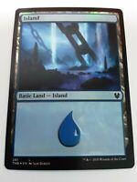 Island Near Mint Foil English Magic Card Theros Beyond Death MTG TCG 251
