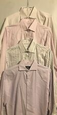 Men Dress Shirt Long Sleeve asst pastels  colors Size 15 1/2 ... lot of 3 pcs
