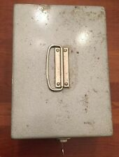 """Vintage Excelsior Metal Utility File Box 7.75"""" X 11"""".  With Key."""