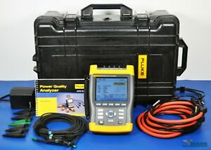 Fluke 435 Power Quality Analyzer 3 Phase PQA i430 Current Probes NIST Calibrated