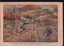 Eruption Volcan Volcano Mount Asama-yama Honshu Japan Japon  1917 ILLUSTRATION