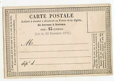 FRANCE FORMULAR POSTAL CARD FOR FRANCE & ALGERIA, 15c, CLEAN   (A88)