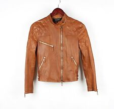 Gucci Womens Leather Moto Motorcycle Jacket Size 38