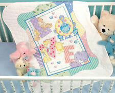 Cross Stitch Kit ~ Dimensions Cute Zoo Alphabet Baby Quilt / Cover #73470