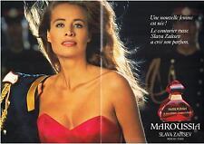 ▬► PUBLICITE ADVERTISING AD Parfum Perfume Maroussia Slava Zaïtsev 4 pages 1992