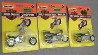 3x Matchbox Harley Davidson Special Edition: Sportster + Chopper + Electraglide