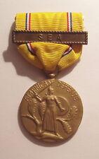 VINTAGE WW II American Defense Medal with SEA Bar