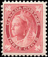 1898 Mint H Canada F+ Scott #69 3c Maple Leaf Issue Stamp
