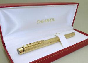 Gold Plated Sheaffer Targa Fountain Pen, M 14k Gold Nib