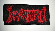 INCANTATION  RED LOGO  EMBROIDERED  PATCH