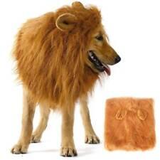 Large Pet Dog Cat Halloween Costume Lion Mane Wig Fancy Ears Dress Up Clothes