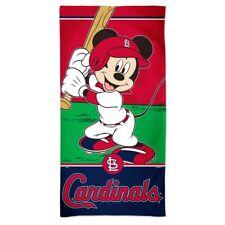 St Louis Cardinals MLB Mickey Mouse 30 X 60 Beach Towel