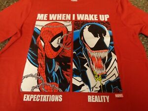 Old Navy Spider-man / Venom SS T-Shirt Youth Boys Large (10-12) Red NWT Marvel