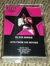 Cassette Tape-Elvis Presley-Hits from his movies-factoru sealed brand New-Rock