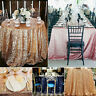 Sparkly Sequin Glitter Table Cloth Wedding Party Banquet Round Tablecloth Cover