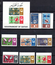 QATAR 1965 ITU COMPLETE SET + IMPERF M/S OF MNH STAMPS UNMOUNTED MINT