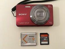 Sony Cyber-Shot DSC-W690 16.1 MP Red Camera 10x optical zoom 32GB SD card