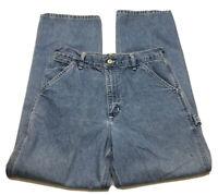 Vintage Carhartt USA Union Made Carpenter Work Blue Denim Jeans Mens 32 x 30