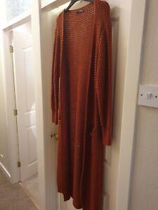 Full Length Orange Quiz Cardigan Size M