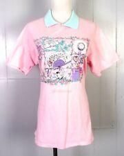 vtg 80s Gopher Sport Grandma Style Frilly Collared Gatlinburg Tn T-Shirt Pink M