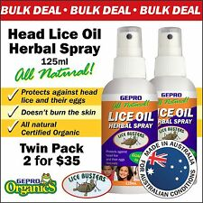 Head Lice Treatment All Natural  Herbal Spray