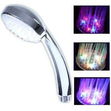 Water-Saving Color Light-Emitting Rain LED Hand-Held Shower Heads Bathroom # GA