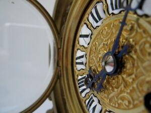 RARE ANTIQUE BRONZE 1800'S TIFFANY & CO. MANTLE WIND UP CLOCK