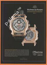 MAITRES du TEMPS transparence watch Print Ad # 183 4