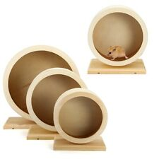 1Pc Pets Exercise Wheel Hamster Wooden Mute Running Spinner Wheel Toy