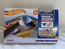 Hot Wheels Track Builder Custom Turn Kicker Playset New With Car