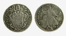 pcc2058) ROMA - Pio VI (1775-1799) - Mezzo scudo romano 1776 - DA MONTATURA