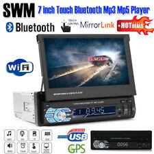 "7"" Touch Screen Bluetooth Car GPS MP5 MP3 Player FM/AM Radio USB/TF/AUX + Remote"