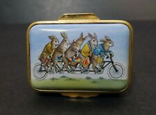 Halcyon Days Box: Five Rabbits on a Bicycle, Smithsonian