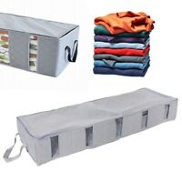 Foldable Clothes Storage Bags Under Bed Containers Space Saver Organizer Window