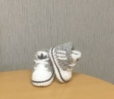 HANDMADE CROCHET BABY FIRST SHOES CASUAL BABY BOOTS SLIPPERS TRAINERS UNISEX