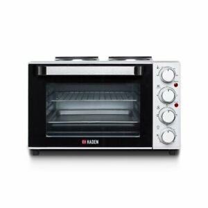 Haden 198204 25L Table Top Mini Oven 1200W Cooker Hob Tabletop Hotplates